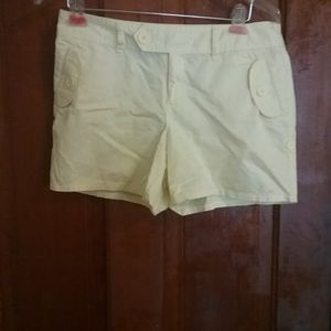 Yellow ladies shorts